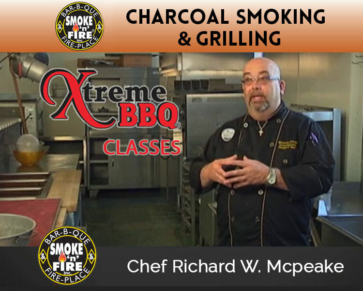 Chef Richard McPeake teaching a grilling class at Smoke N Fire