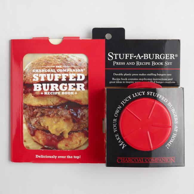 Charcoal Companion Stuff-A-Burger Press and Recipe Book Set