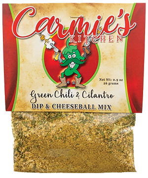 Carmie's Kitchen Green Chile and Cilantro dip mix