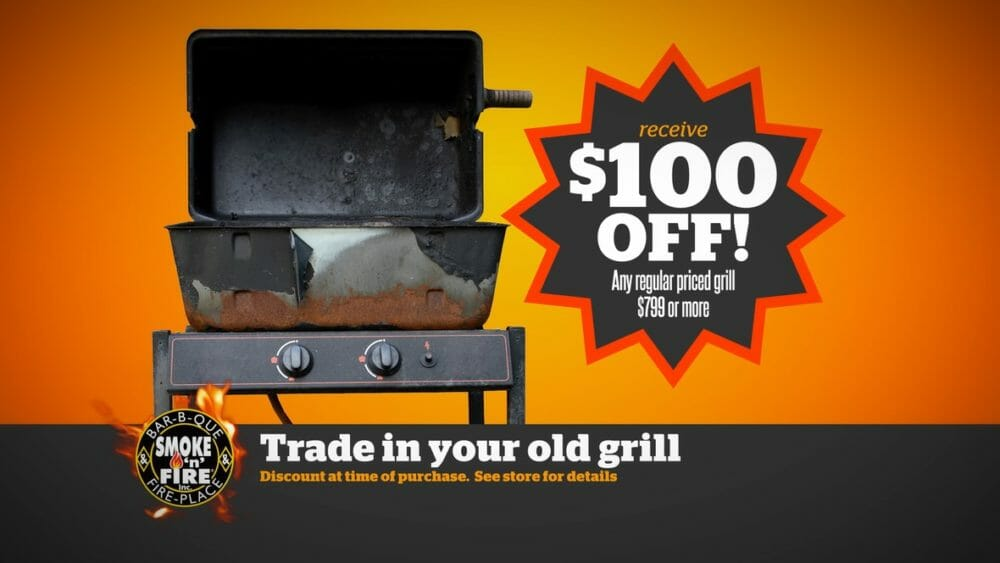 trade in grill sale